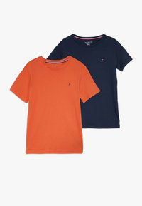 Tommy Hilfiger - TEE 2 PACK  - T-shirt basic - orange - 0