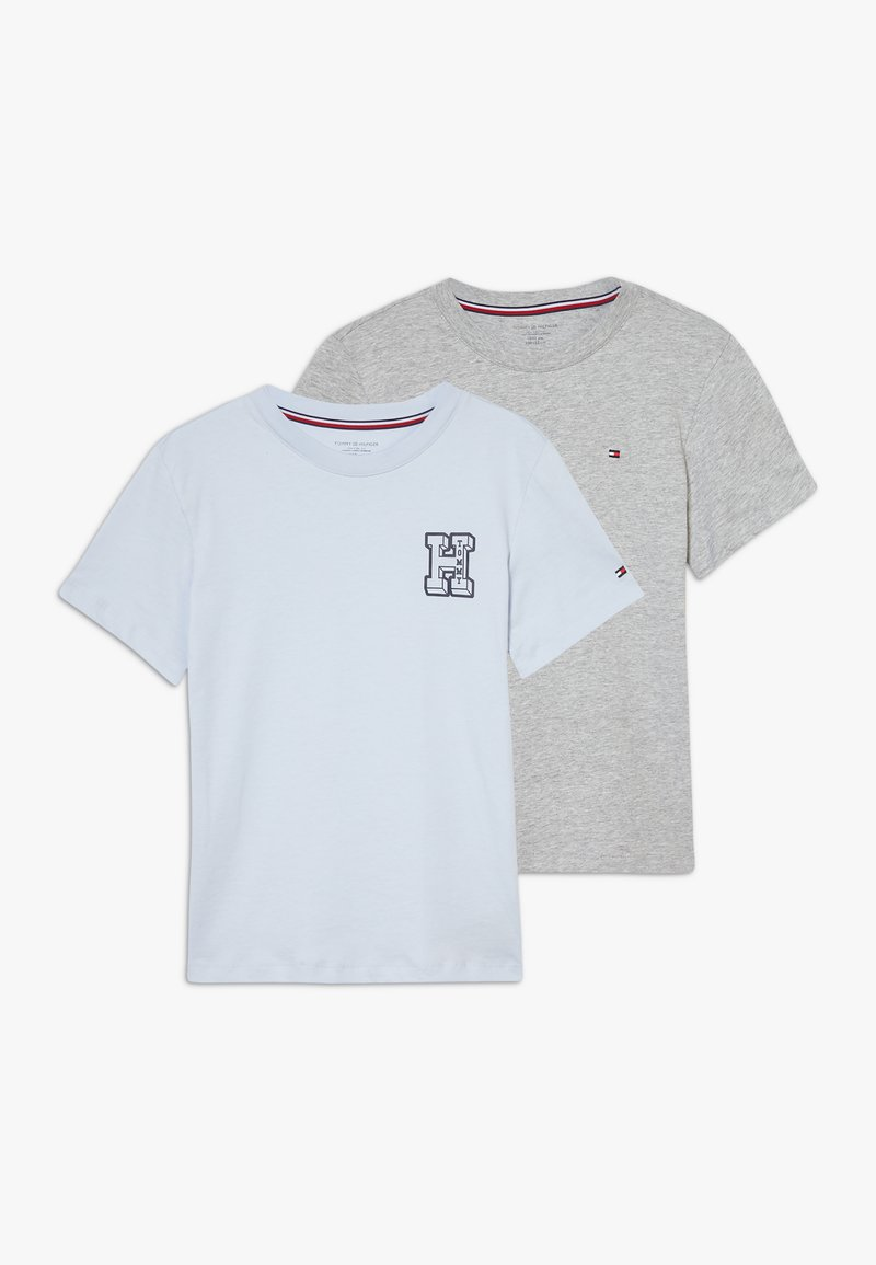 Tommy Hilfiger - TEE LOGO 2 PACK - Print T-shirt - grey