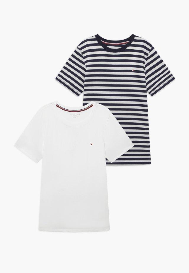 TEE STRIPE 2 PACK - Camiseta interior - blue