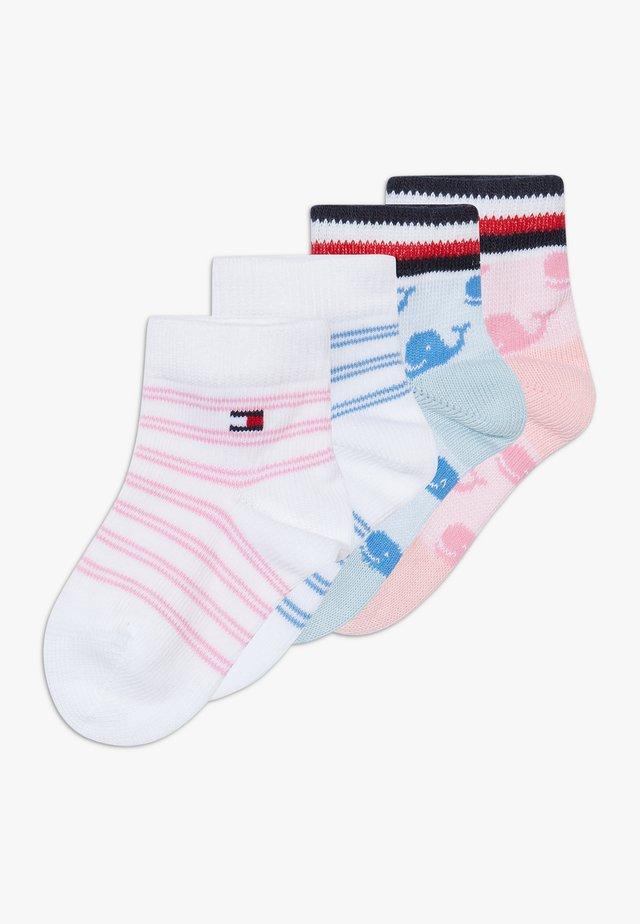 BABY WHALE 4 PACK - Socken - light pink/white