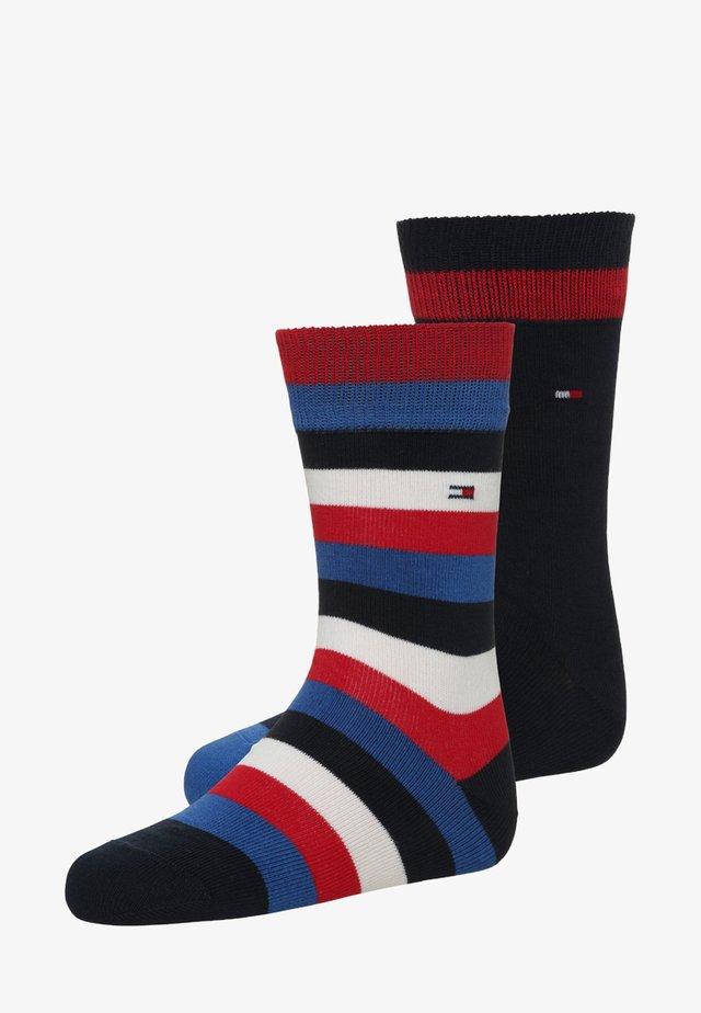 BASIC STRIPE 2 PACK - Ponožky - midnight blue