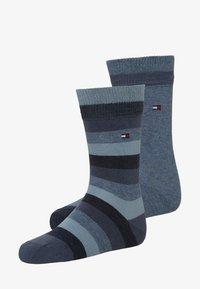 Tommy Hilfiger - BASIC STRIPE 2 PACK - Ponožky - jeans - 0