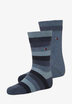 BASIC STRIPE 2 PACK - Ponožky - jeans