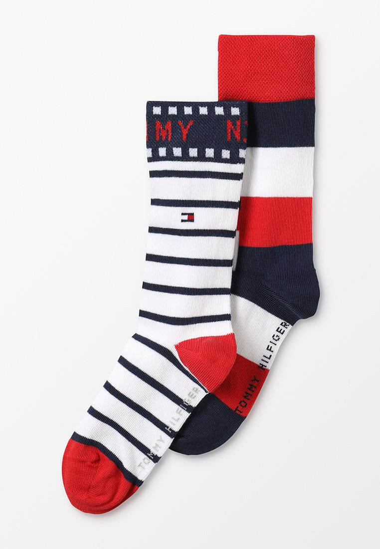 Tommy Hilfiger - TH KIDS BLOCK SOCK 2 PACK  - Socks - tommy original