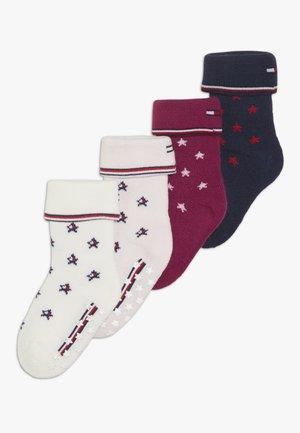 BABY 4 PACK - Socks - red/grey/blue