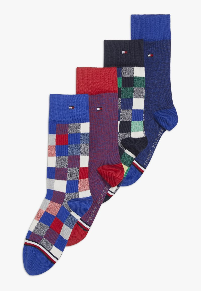 Tommy Hilfiger - SOCK BLOCKS 4 PACK - Socks - blue/green