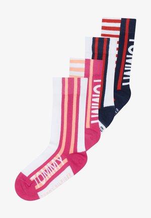 BOLD STRIPE  4 PACK - Socks - light pink