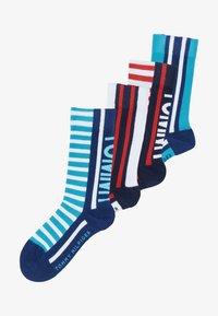 Tommy Hilfiger - BOLD STRIPE  4 PACK - Ponožky - blue - 4