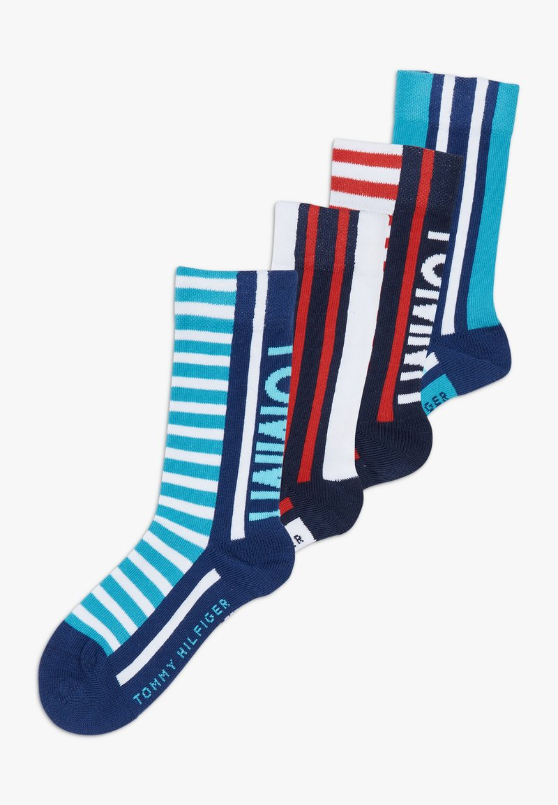Tommy Hilfiger - BOLD STRIPE  4 PACK - Ponožky - blue