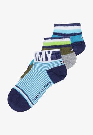 QUARTER FINE STRIPE 4 PACK - Ponožky - blue/olive