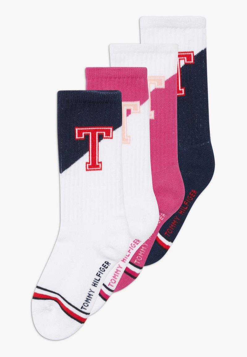 Tommy Hilfiger - PATCH 4 PACK - Ponožky - light pink/blue