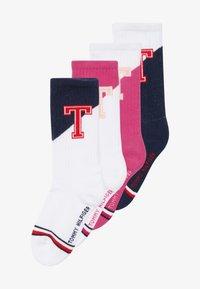 Tommy Hilfiger - PATCH 4 PACK - Ponožky - light pink/blue - 4