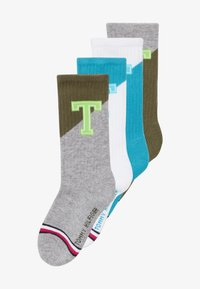 Tommy Hilfiger - PATCH 4 PACK - Ponožky - blue/olive - 4