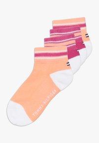 Tommy Hilfiger - ICON SPORTS QUARTER 4 PACK - Ponožky - light pink - 0
