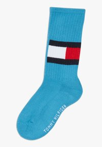 Tommy Hilfiger - FLAG 4 PACK - Calcetines - white/neon green - 2