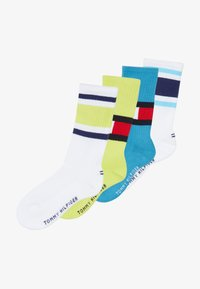 Tommy Hilfiger - FLAG 4 PACK - Calcetines - white/neon green - 4