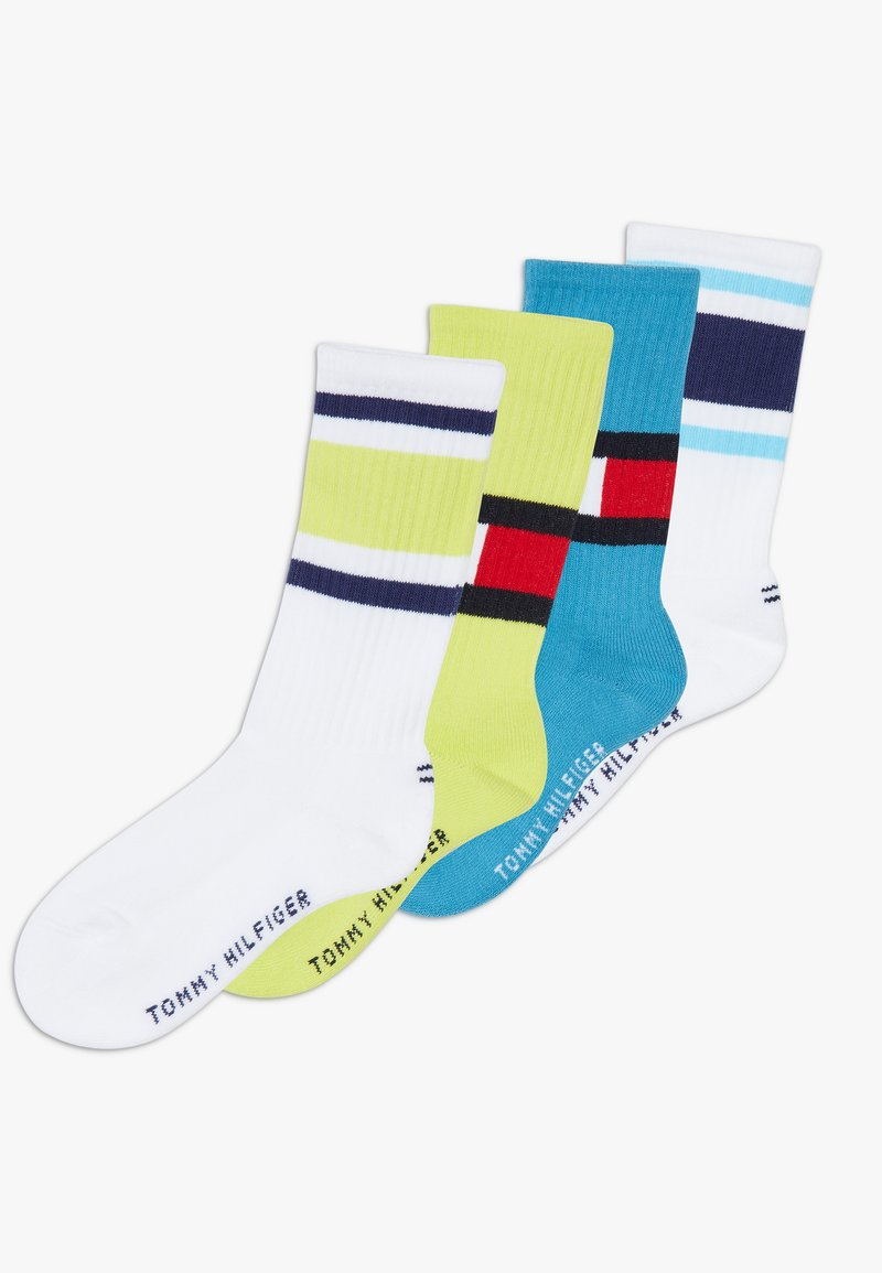 Tommy Hilfiger - FLAG 4 PACK - Calcetines - white/neon green