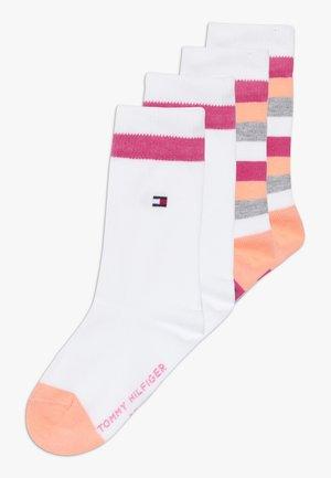 BASIC STRIPE 4 PACK - Ponožky - light pink