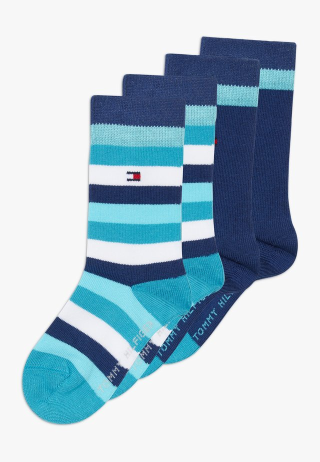 BASIC STRIPE 4 PACK - Socks - blue