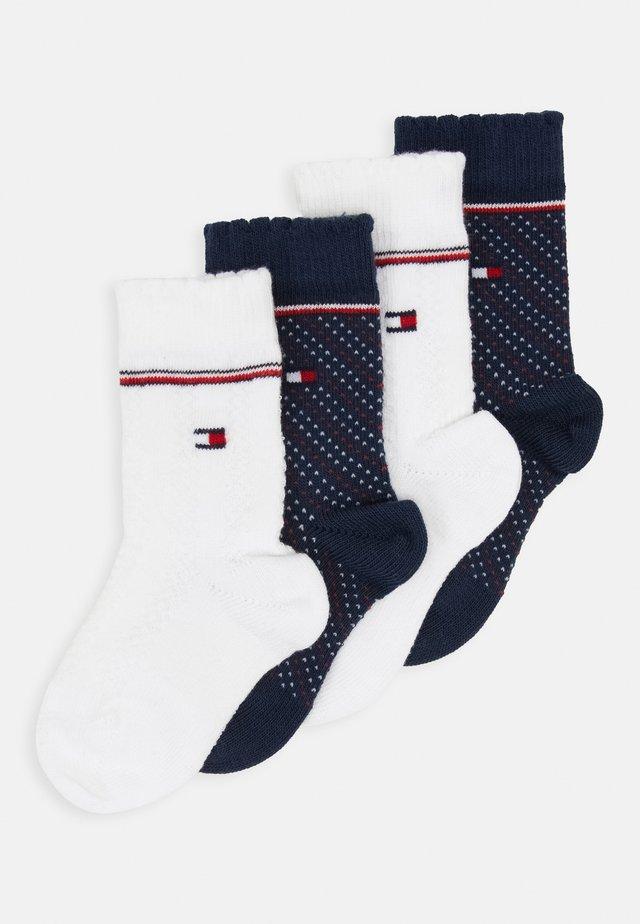 BABY KNEEHIGH GIRLS ZIG ZAG 4 PACK - Knee high socks - blue