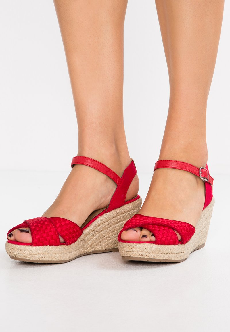 TOM TAILOR - Plateausandalette - red