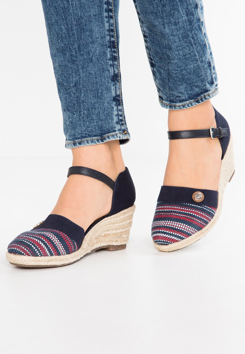 TOM TAILOR - Wedges - navy