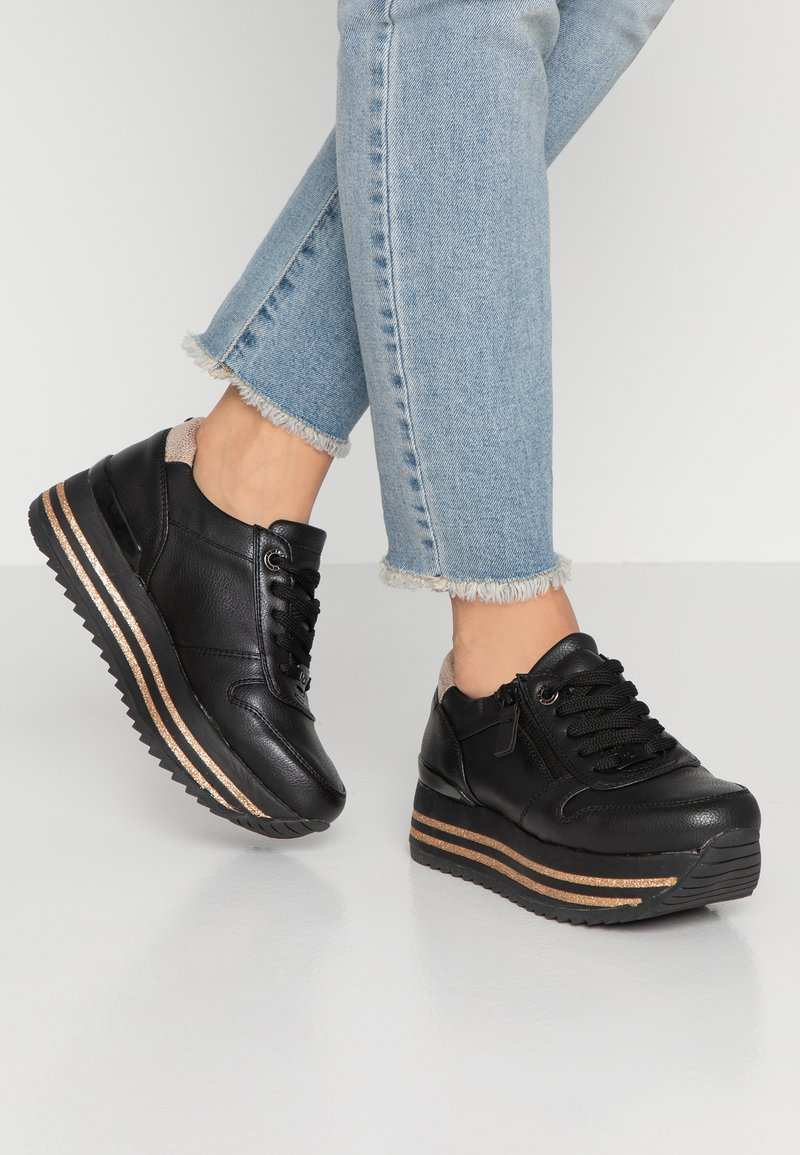 TOM TAILOR - Trainers - black