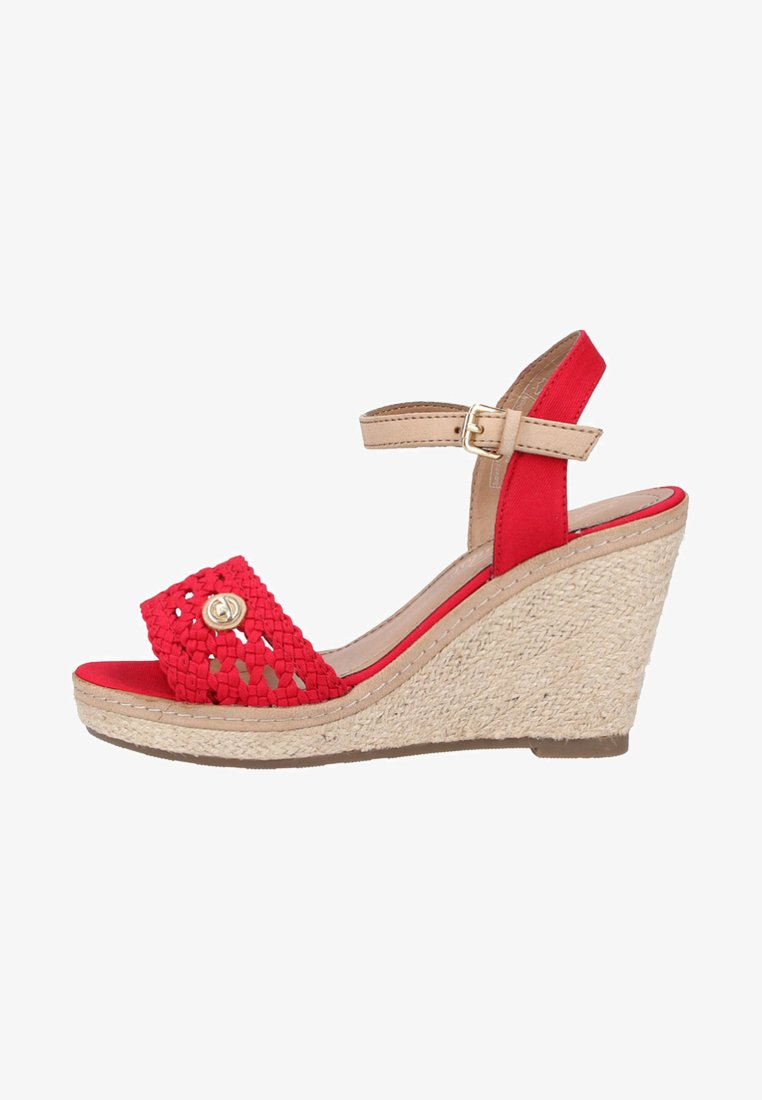 TOM TAILOR - High heeled sandals - red