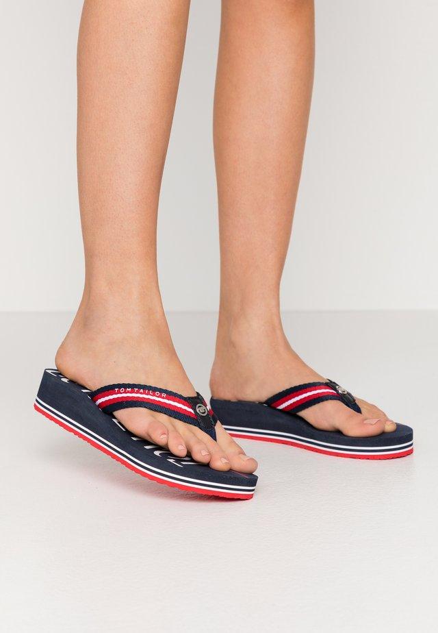 T-bar sandals - navy/red/white