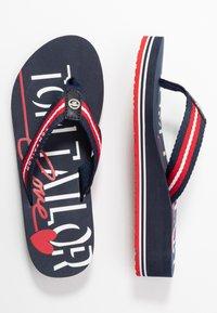 TOM TAILOR - Flip Flops - navy/red/white - 3