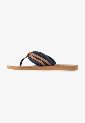 Flip Flops - navy/camel