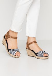 TOM TAILOR - Espadrilky - navy - 0