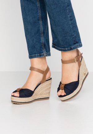 Sandály na vysokém podpatku - navy