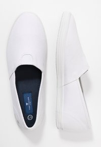 TOM TAILOR - Półbuty wsuwane - white - 1