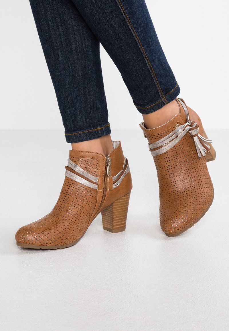 TOM TAILOR - Ankle Boot - camel