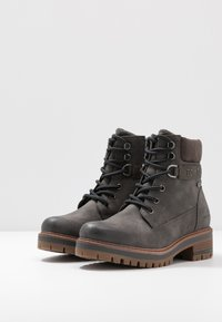 TOM TAILOR - Šněrovací kotníkové boty - coal - 4