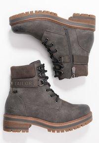 TOM TAILOR - Šněrovací kotníkové boty - coal - 3