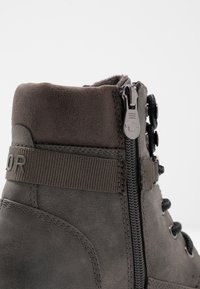 TOM TAILOR - Šněrovací kotníkové boty - coal - 2