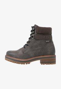 TOM TAILOR - Šněrovací kotníkové boty - coal - 1