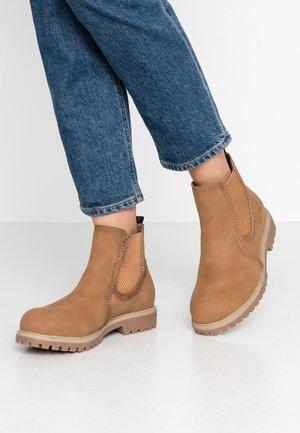 Kotníkové boty - hazel