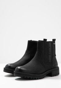 TOM TAILOR - Kotníkové boty - black - 4