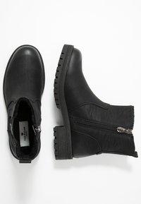 TOM TAILOR - Kotníkové boty - black - 3