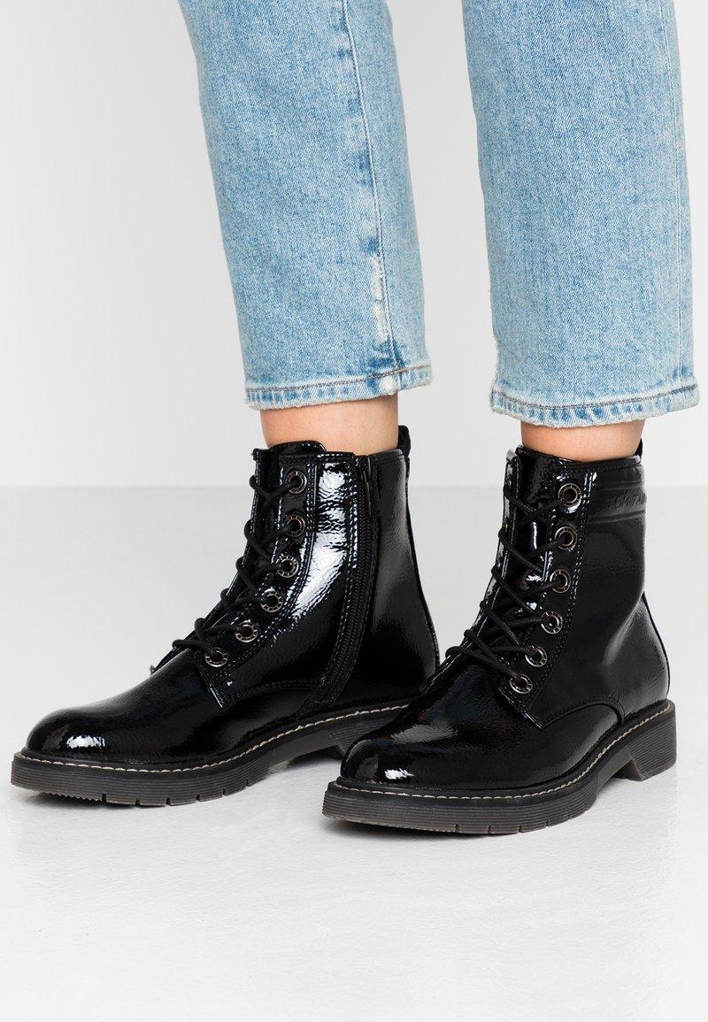 TOM TAILOR - Veterboots - black