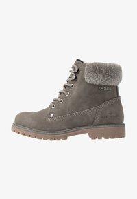 TOM TAILOR - Šněrovací kotníkové boty - mud - 1