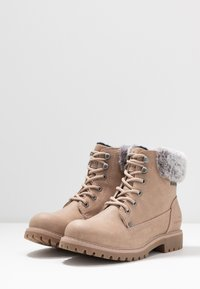 TOM TAILOR - Lace-up ankle boots - nude - 4