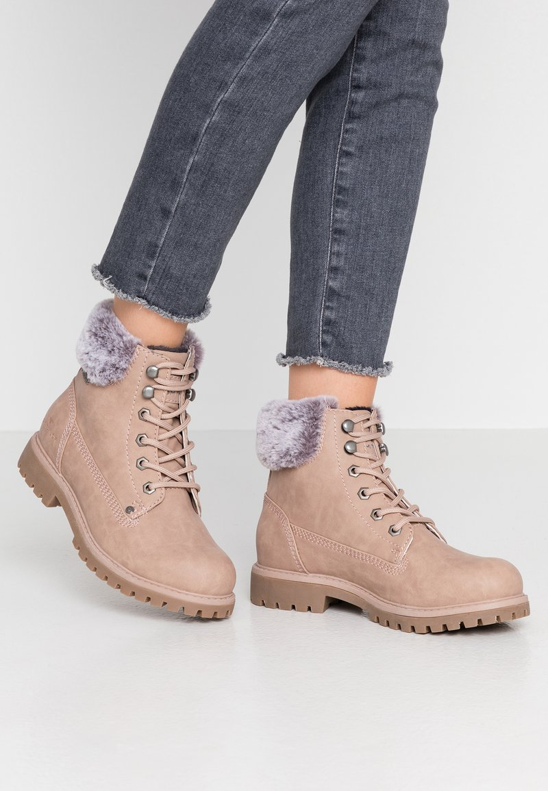 TOM TAILOR - Lace-up ankle boots - nude
