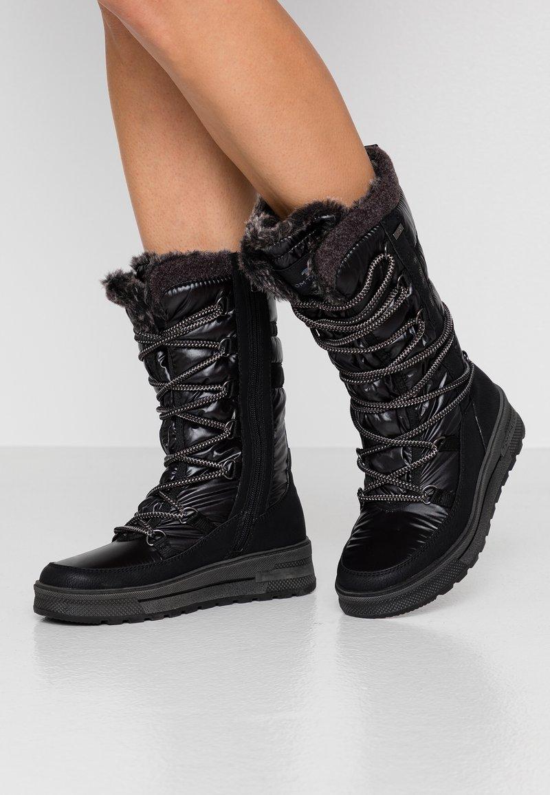 TOM TAILOR - Zimní obuv - black