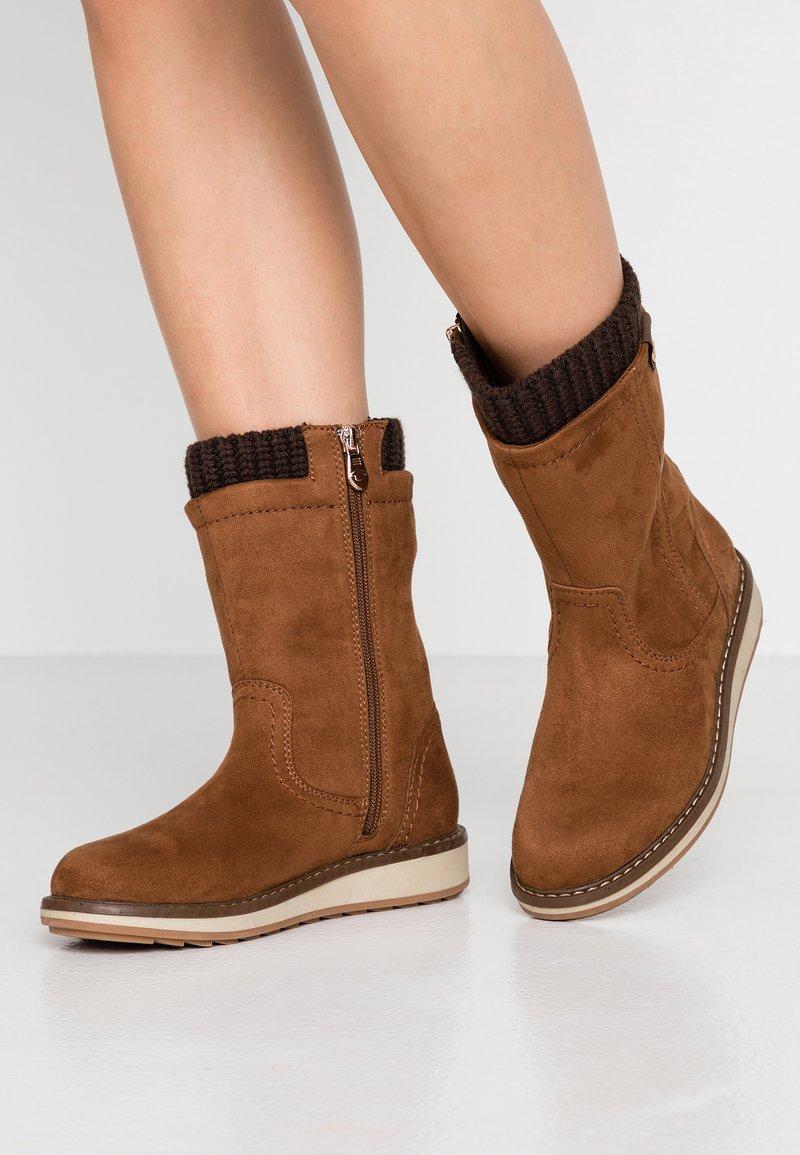 TOM TAILOR - Boots - hazel