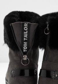 TOM TAILOR - Kotníkové boty - coal - 7