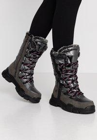TOM TAILOR - Vinterstøvler - coal - 0